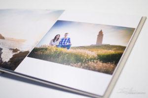 fotógrafo de bodas, imágen de maquetación de un álbum